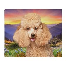 Poodle Meadow Throw Blanket