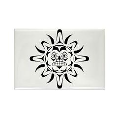 Sun Native American Design Rectangle Magnet (10 pa