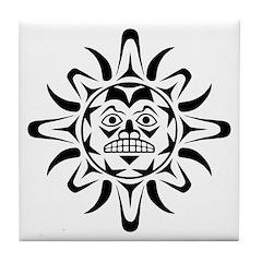 Sun Native American Design Tile Coaster