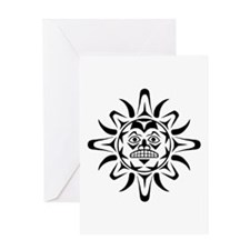 Sun Native American Design Greeting Card