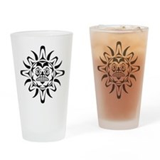 Sun Native American Design Drinking Glass