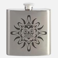 Sun Native American Design Flask