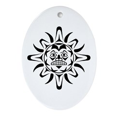 Sun Native American Design Ornament (Oval)