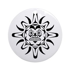 Sun Native American Design Ornament (Round)