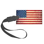 Vintage USA Flag Large Luggage Tag