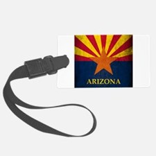 Grunge Arizona Flag Luggage Tag
