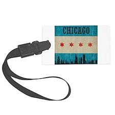 Vintage Chicago Skyline Luggage Tag