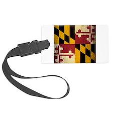 Grunge Maryland Flag Luggage Tag