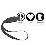 Peace Love Minnesota Large Luggage Tag