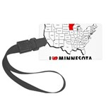 I Love Minnesota Large Luggage Tag