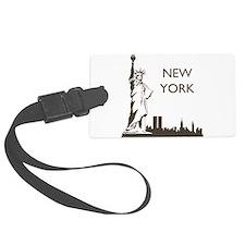 Retro New York Luggage Tag