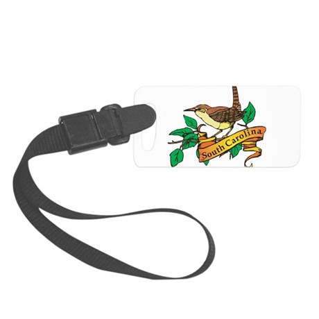 South Carolina Wren Small Luggage Tag