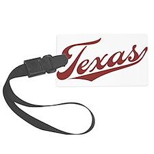 Retro Texas Luggage Tag