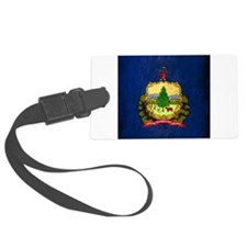 Grunge Vermont Flag Luggage Tag