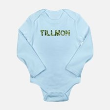 Tillmon, Vintage Camo, Long Sleeve Infant Bodysuit