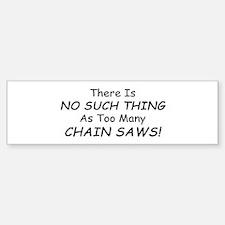 Funny Chainsaw Sticker (Bumper)