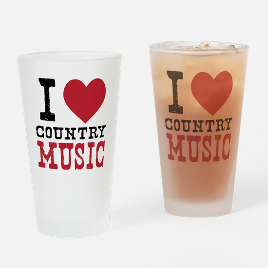 Country Music Drinking Glass