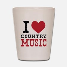 Country Music Shot Glass