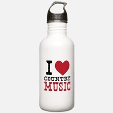 Country Music Water Bottle