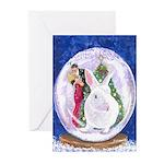 White Rabbit Christmas Greeting Cards (Pk of 10)