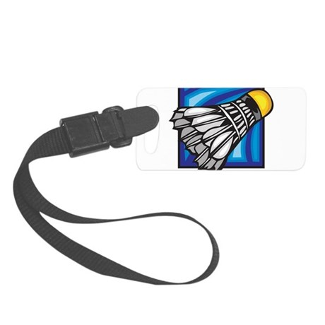 Badminton Shuttlecock Small Luggage Tag