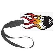 Flaming Eight Ball Luggage Tag