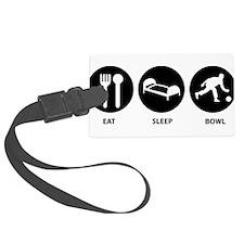 Eat Sleep Bowl Luggage Tag