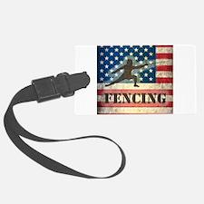 Grunge USA Fencing Luggage Tag