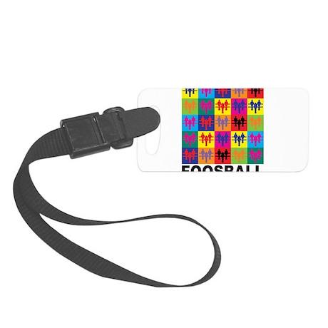 Pop Art Foosball Small Luggage Tag