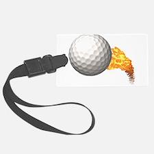 Fiery Golf Luggage Tag