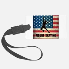 Grunge USA Figure Skating Luggage Tag