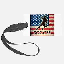 Grunge USA Soccer Luggage Tag