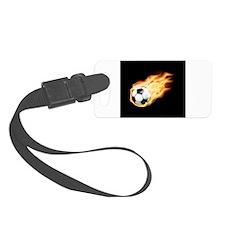 Fiery Soccer Ball Luggage Tag