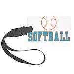 Softball Large Luggage Tag