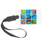 Tennis Puzzle Large Luggage Tag