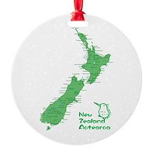 New Zealand Map Ornament