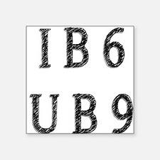 """IB6UB9 Square Sticker 3"""" x 3"""""""