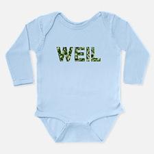 Weil, Vintage Camo, Long Sleeve Infant Bodysuit
