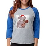 koala santa copy.png Womens Baseball Tee