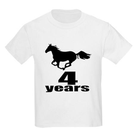 04 Years Birthday Designs Kids Light T-Shirt