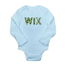 Wix, Vintage Camo, Long Sleeve Infant Bodysuit