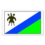 Lesotho Rectangle Sticker