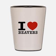 I love Beavers Shot Glass