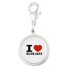 I love Blue Jays Silver Round Charm