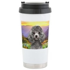 Poodle Meadow Travel Mug