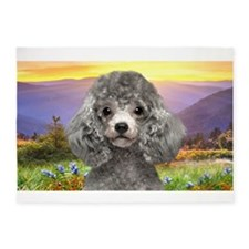 Poodle Meadow 5'x7'Area Rug