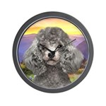 Poodle Meadow Wall Clock