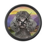Poodle Meadow Large Wall Clock