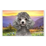 Poodle Meadow Sticker (Rectangle)
