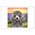 Poodle Meadow Large Poster